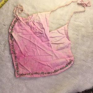 Vintage rayon hippie top.  Handkerchief style